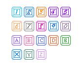 可爱的键盘字母数字(36个字体下载)