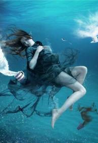 水下婚纱唯美女生皮肤背景图片大全 五百里柔情似水