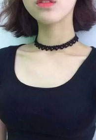 性感皮肤个性网露锁骨的女生 瘦不了的永远在骚动