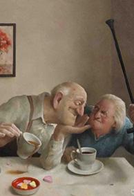 老夫妻恩爱图片漫画皮肤 浪漫情侣唯美皮肤