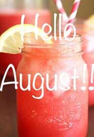 再见七月你好八月唯美图片背景皮肤 你好八月请善待我朋友