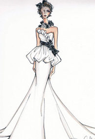 手绘婚纱礼服设计图片大全背景皮肤 我想枕着你的情话入眠