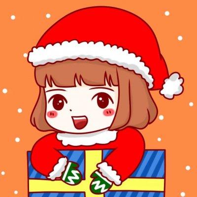 2018最新微信圣诞情侣卡通头像一男一女 戴小红帽的卡通情侣头像可爱