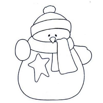 2018幼儿园雪人图片简笔画大全 最新冬天雪人简笔画图片