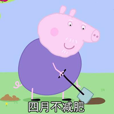 不减肥徒伤悲表情包小猪佩奇 不减肥徒伤悲表情包一套