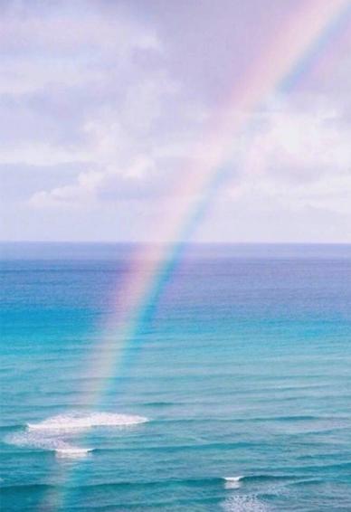 蓝天白云彩虹壁纸高清图片大全 阳光励志的唯美彩虹图片2018