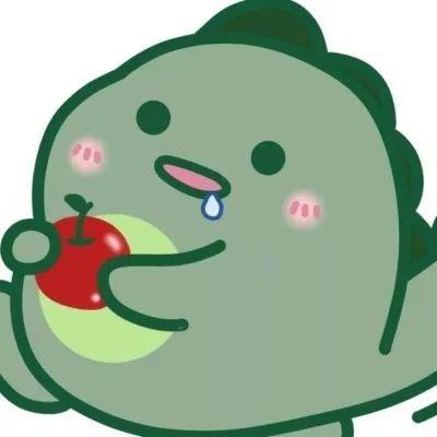 ins超火可爱小恐龙头像大全 绿色呆萌小恐龙卡通头像