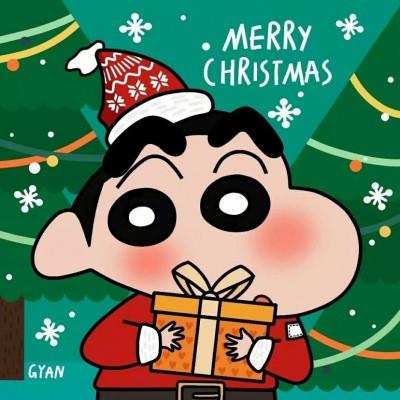 蜡笔小新圣诞头像可爱大全 2019好看的圣诞节卡通头像
