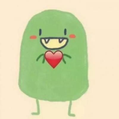 微信卡通情侣头像一对一人一张 亲爱的你就是个小傻瓜