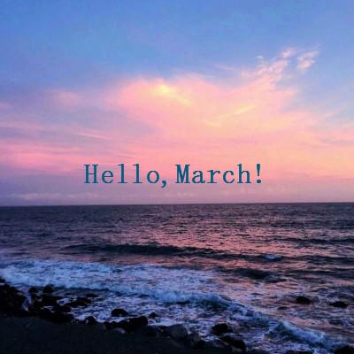 2019三月微信头像唯美英文配字 2月再见2月你好唯美带好运头像