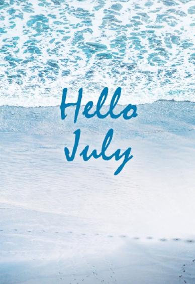 2019最新七月你好手机壁纸大全带字 七月你好海边风景壁纸图片唯美