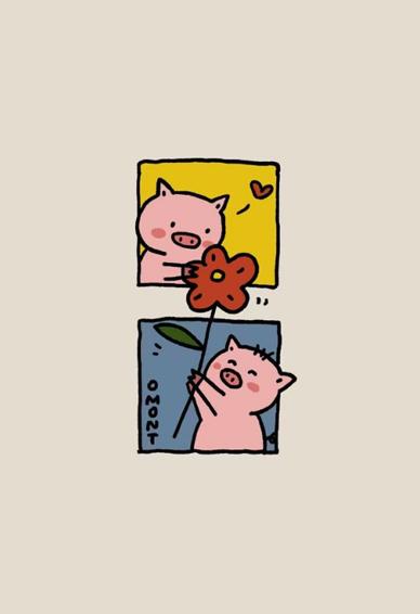 2019抖音七夕情侣壁纸卡通可爱图片 从春夏到秋冬从年少到白头
