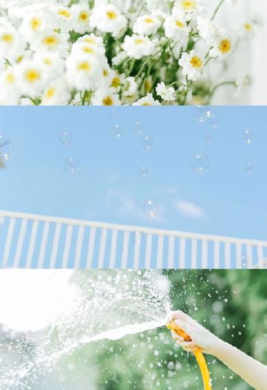 高清三宫格风景壁纸小清新 拼接夏天的美好记忆