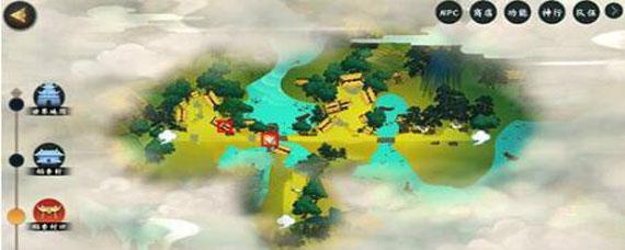 指尖江湖稻香村口风景点在哪 指尖江湖稻香村口风景点怎么开