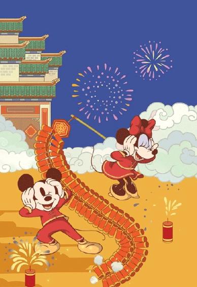 迪士尼米奇米妮鼠年新春壁纸 2020鼠年开运壁纸卡通可爱