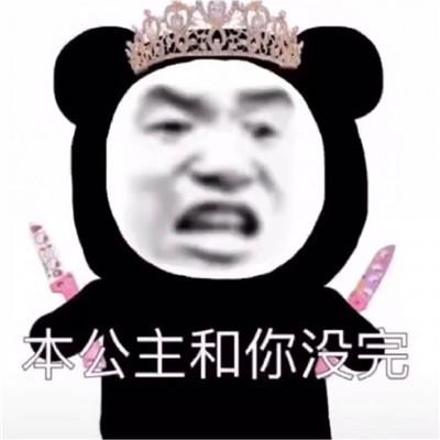 2021沙雕搞怪的熊猫头公主表情包 我真的想和你慢慢来