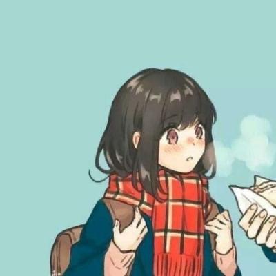 适合冬季的很温暖的卡通情侣头像 知足且坚定温柔且上进