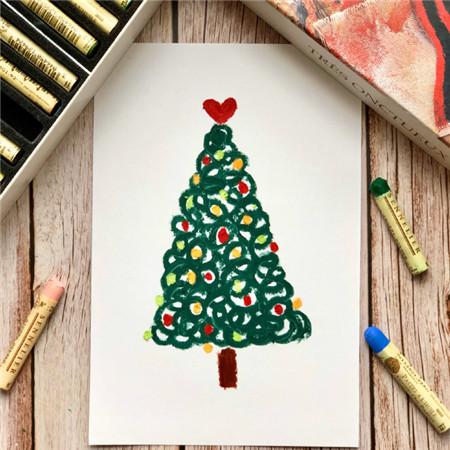 2020创意圣诞树美术绘画素材 美好与温柔都会如约