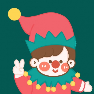 可爱卡通圣诞节情侣头像大全2020大全-云奇网
