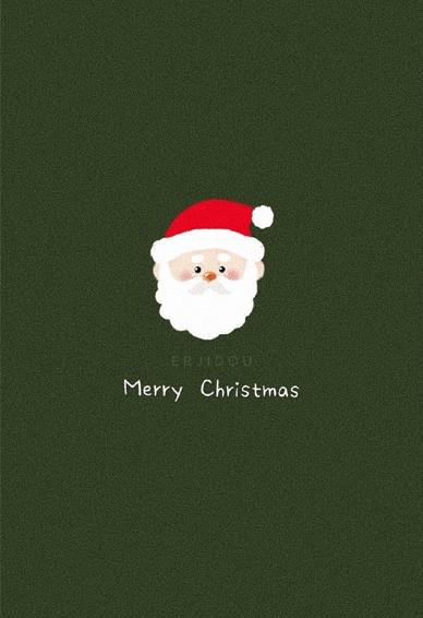 2020圣诞节可爱的手机壁纸 月亮想把心事说给太阳听