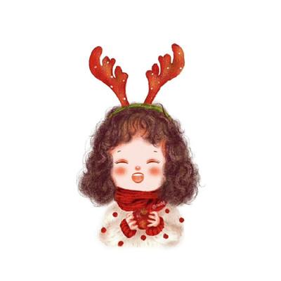2020圣诞节专属秀恩爱情侣卡通头 一定有人陪你一起踩雪吃火锅