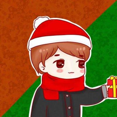 圣诞节圣诞帽卡通可爱男生头像 想要躲雨却一直站在暴雨里