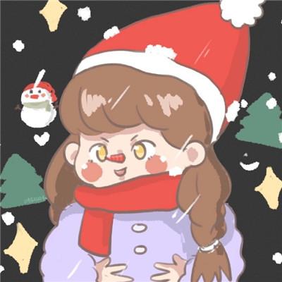 2021圣诞节可爱卡通情侣专用头像 可以微弱但要有光