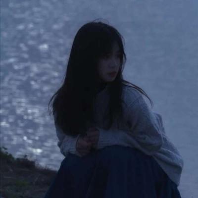 失恋适用的伤感很丧的女生头像 突如其来的相遇始料未及的喜欢