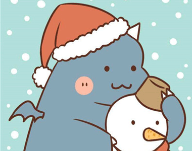 2020圣诞节专属可爱的卡通微信头像 没有远大理想只想天天开心