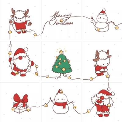 2020圣诞节朋友圈九宫格素材 朋友圈超可爱的九宫格