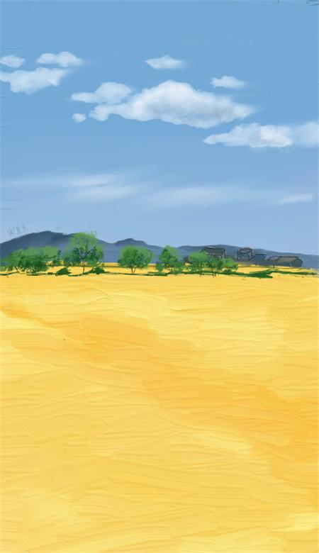 小清新唯美风景油画手机壁纸 好看意境的风景油画大图