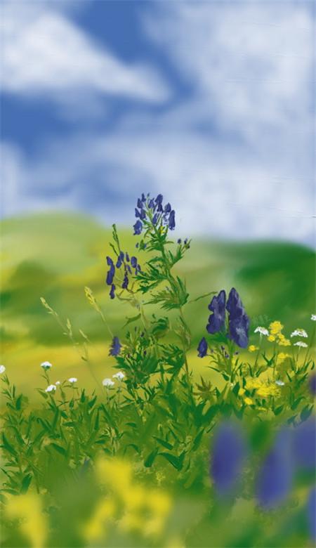 小清新唯美风景油画手机壁纸 好看意境的风景油画大图(图4)
