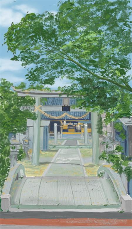 小清新唯美风景油画手机壁纸 好看意境的风景油画大图(图5)