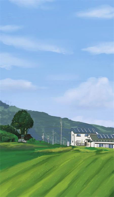 小清新唯美风景油画手机壁纸 好看意境的风景油画大图(图7)