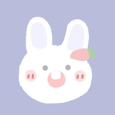 兔子卡通头像可爱萌卡哇伊 我爱你就像老鼠爱大米