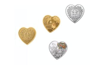 520心形纪念币长什么样 2020吉祥文化金银纪念币规格及发行量