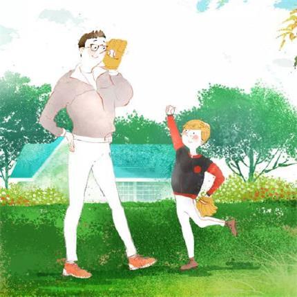 父亲节图片卡通可爱 最新抖音父亲节图片最火