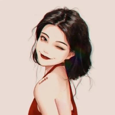 抖音头像手绘女生简单气质 月色与你太过撩人