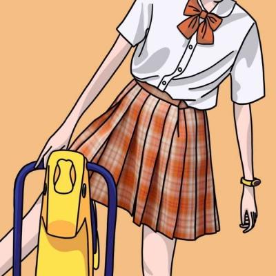 女生手绘头像简约可爱温柔 一个傻傻的爱笑女孩