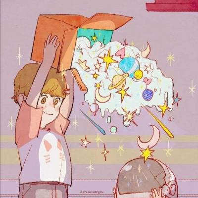 超可爱卡通动漫情侣头像抖音 一见钟情易长相厮守难