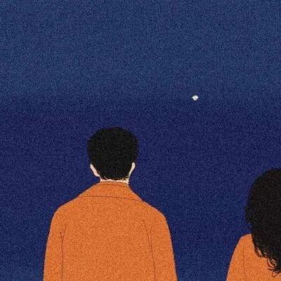 唯美漫画情侣头像一对 你是我翘首以盼的惊喜
