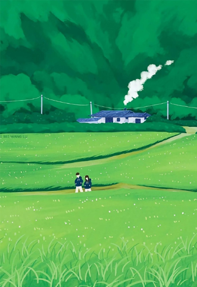 绿色壁纸可爱小清新牛油果 给你今日份的