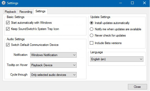 SoundSwitch(音频设备切换软件)v5.5.0.42512 官方版