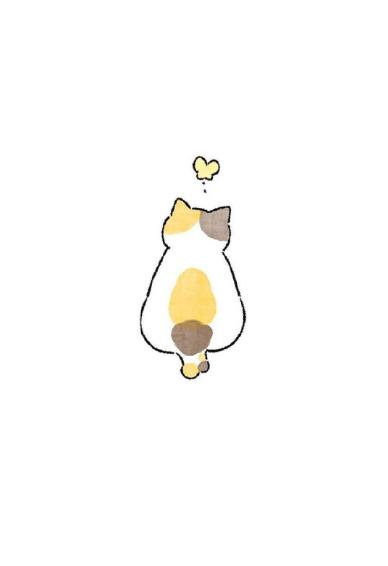 可爱cat 咪壁纸简约高清 白色背景cat 咪壁纸