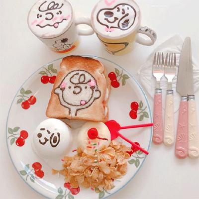 好看可口食物小清新picture 粉色系可爱少女