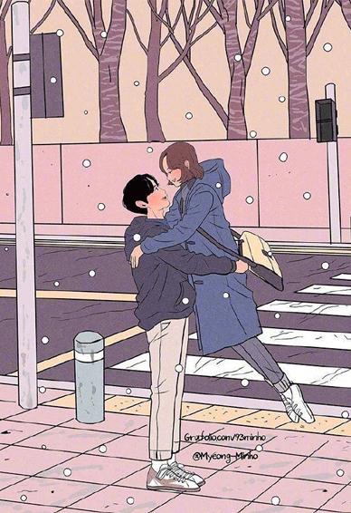 卡通双人最甜蜜的空间情侣皮肤 一生太长了总要有个人作伴