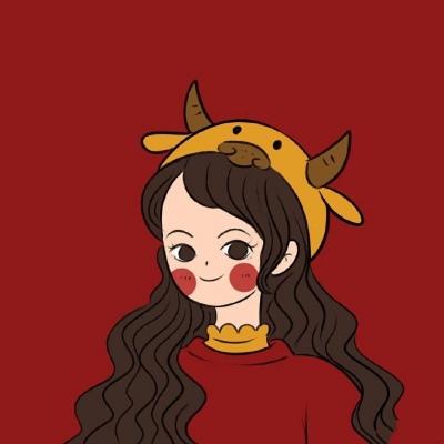 牛年喜庆红色动漫个性头像 牛年带给你好运的头像