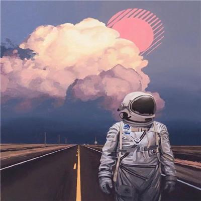 适合男生用的超酷的太空人微信头像 有节制的爱他人无条件的爱自己