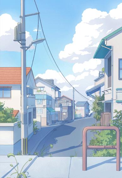 日式动漫很治愈的ins风手机壁纸 喜欢大概是看不够和止不住