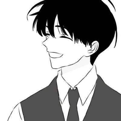 帅气也很有个性的男生黑白动漫头像_主动是我对热爱东西表达的极限